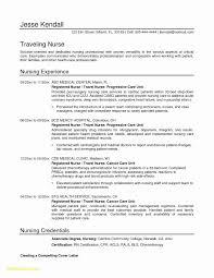 Sample Resume For Renal Nurse Lovely New Free Registered Templates