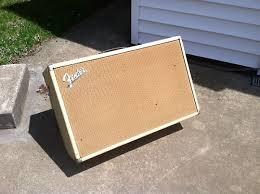 Fender Bassman Cabinet Screws by Fender Bassman 1963 Blonde 2x12 Speaker Cabinet Reverb