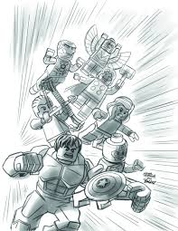 Download Coloring Pages Lego Marvel Superheroes Super Heroes