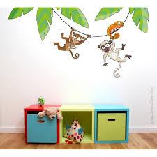 stickers jungle chambre bébé sticker ça balance déco chambre bébé et enfant série golo