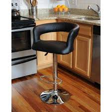 Adjustable Height Chrome Swivel Cushioned Bar Stool