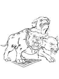 Dangerous Dog With Harry Potter Coloring Pages