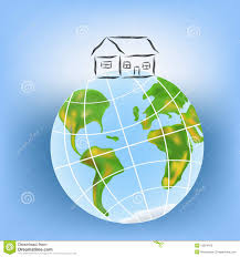 100 House Earth On The Earth Stock Vector Illustration Of Countries 13824163