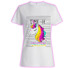 Womans Ladies Girls Tumblr Unicorn Rainbow Glitter Princess Celeb 3 T Shirt Loose Short Sleeve Cute