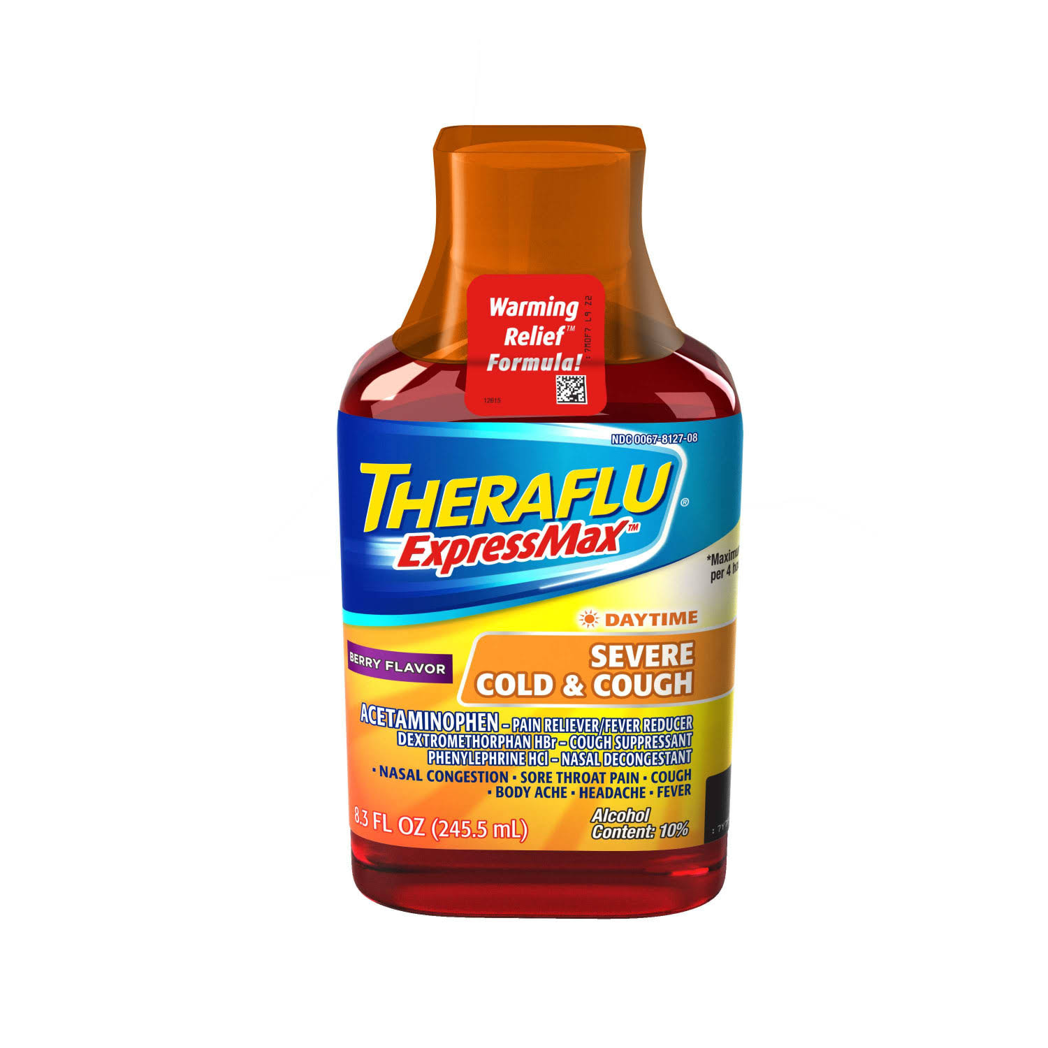 Theraflu ExpressMax Severe Cold & Cough - Berry, 8.3oz