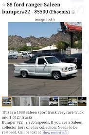 Saleen Ranger On Craigslist - The Ranger Station Forums Craigslist Find Of The Week Page 12 Ford Truck Enthusiasts Forums My Manipulated That I Call Mikeslist Ciason40 Econoline Pickup 1961 1967 For Sale In Hawaii Tough Love Dad Puts Disrespectful Sons Suv On 20 Inspirational Images Oahu Cars And Trucks New Food Truck For Sale Craigslist Youtube In Arizona Does 2003 Chevy Mean Mexican Drug Runner Amazoncom Undcover Fx11018 Flex Hard Folding Bed Cover Best Of Photo Org Dallas 200 59 Chevy 4 Speed Stepside Apache Cheap Funny Deals Staples Coupon 73144