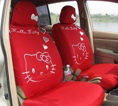 12pcs hello kitty red lace car plush neckrest steering whee seat