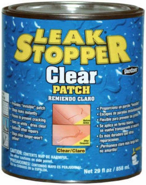 Leak Stopper Rubberized Roof Patch, Clear - 29 fl oz can