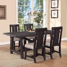 modus yosemite 5 piece rectangular dining table set with wood
