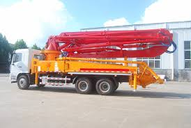 China Mobile 38m 42m 47m Jh Boom Truck Mounted Concrete Hydraulic ...