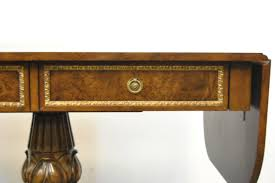 Maitland Smith Map Desk by Maitland Smith Drop Leaf Neo Classic Pedestal Server Table