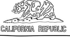 Easy Drawing For Kids How To Draw California Flag