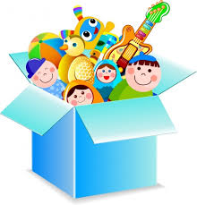 toy box icon various colorful symbols 3d design free vector in