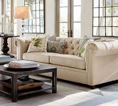 Pottery Barn Charleston Sofa Dimensions by Living Room Media Nl Pottery Barn Chesterfield Sofa Upholstered