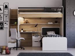 hochbett etagenbett new option set mit bett schreibtisch ohne matratze