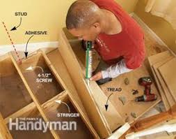 Fix Squeaky Floors Under Carpet by How To Repair Squeaky Stairs Family Handyman