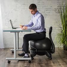 Yoga Ball Desk Chair Benefits by Amazon Com Gaiam Balance Ball Chair Replacement Ball Blue 52cm