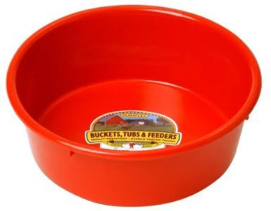 Miller Manufacturing Utility Pans - Plastic, Red, 5qt