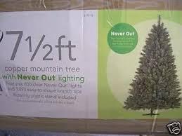 Martha Stewart Rotating Christmas Tree Pre Lit 7 5 Artificial
