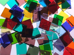 bulk discount translucent mix stained glass mosaic tiles