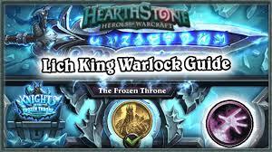 hearthstone defeating lich king boss guide standard warlock