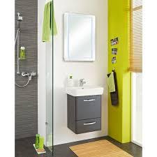 badezimmer waschtisch set 2 teilig anthrazit hochglanz velo