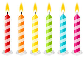Birthday Candles PNG Vector Clipart Image