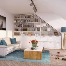 nischen und dachschrä clever nutzen wohnung wohnzimmer