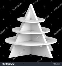 3D Christmas Tree Shelves And Shelf Design Object Isolated Die Cut