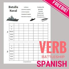Battleship Verbs In Spanish
