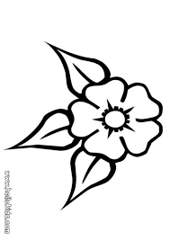 Three Leaf Flower Coloring Page