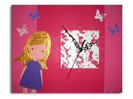 horloge chambre bébé horloge chambre bebe tableau peinture tableau horloge fille