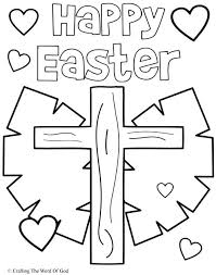 Happy Easter Coloring Pages 3 Page A Crafting The Word Of God Words