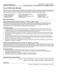 Facilities Manager Resumefacilities Resume Sample Template