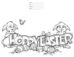 Hoppy Easter Colouring Page For Children
