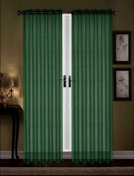 Domestications Curtains And Blinds by Amazon Com Awad Home Fashion 2 Panels Solid Hunter Green Sheer
