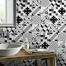 jy schwarz und weiß grau mosaik fliesenaufkleber 20x20
