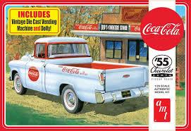 AMT 1/25 '55 Chevrolet Cameo Pickup Truck Coca Cola PLATIC MODEL KIT ...