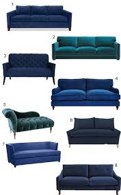 shop 43 blue velvet sofas