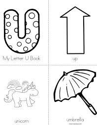 Number Names Worksheets letter u activities for kindergarten