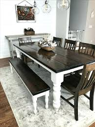 Black Kitchen Table With Bench Dining Benches Full Size Of