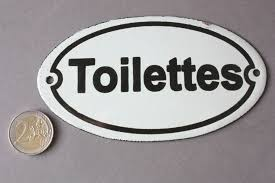toilettes wc emaille schild vintage door sign enamel