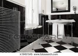 badezimmer schwarz weiß farbe stock fotografie k19451545