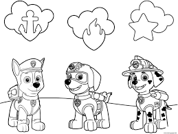 Paw Patrol Badges And Pups Ryder Coloring Page