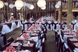 Linens And Table Settings At A Barn Wedding Rentals For Any Setting