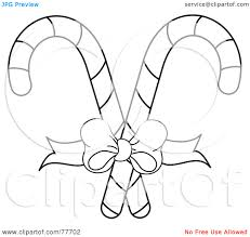 Candy Cane Clip Art Black and White