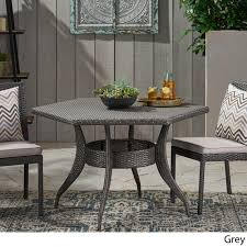 Details About Daisy Outdoor 53 Inch Wicker Hexagon Dining Table
