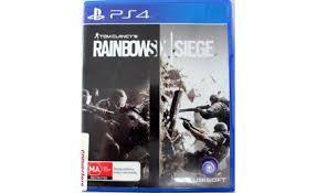 siege sony sony playstation 4 ps4 tom clancy s rainbow six siege disc