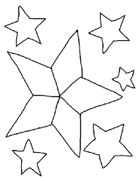 Stars Coloring Pages In The Sky
