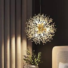 dellemade sputnik kronleuchter 8 licht golden luxuriöse pendelleuchte für schlafzimmer wohnzimmer esszimmer